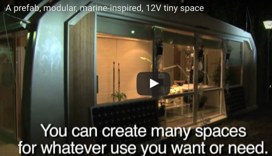 A modular, marine-inspired, 12 Volt powered tiny space